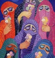 Artwork by artist Laila Shawa
